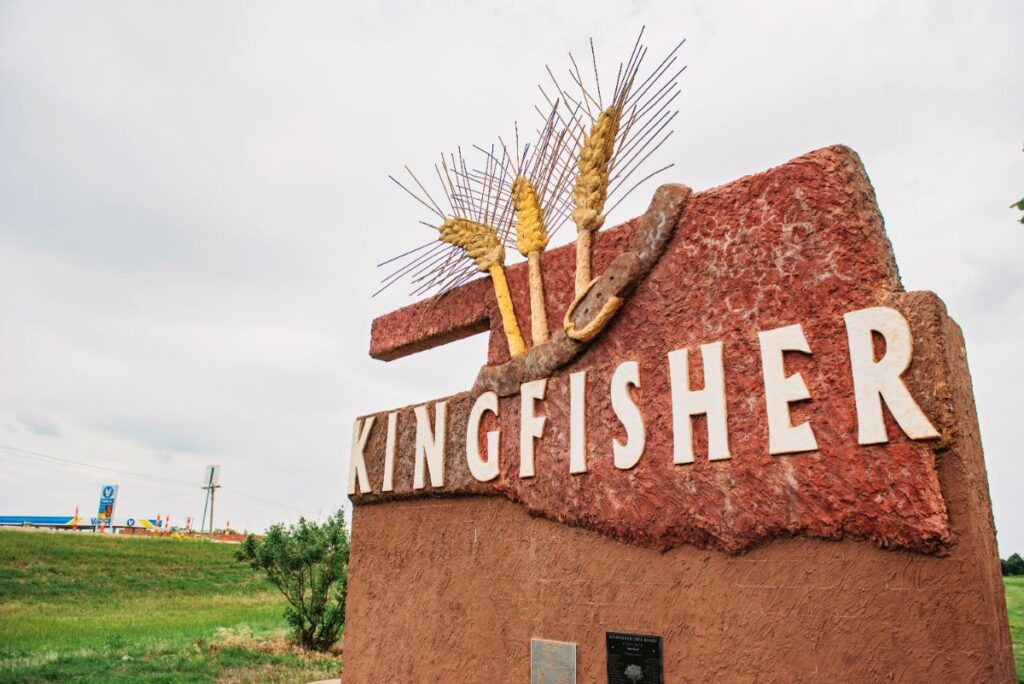 City of Kingfisher SIgn